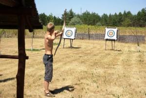 Onze camping 10 10 boogschieten